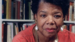 Maya Angelou is pictured in her home in this undated photo. (Moneta Sleet, Jr./ Ebony Collection)